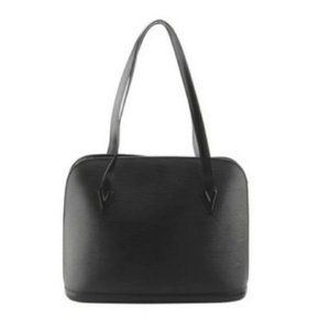 Louis Vuitton Bags - Auth LV Black Epi Lussac Tote with Matching Wallet